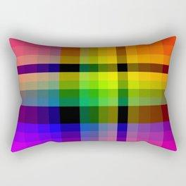 Color wheel plaid Rectangular Pillow