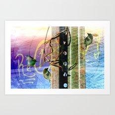 City Birds 02 Art Print