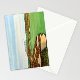Shinnecock Hills Golf Course With Clubhouse Stationery Cards