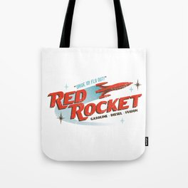 Red Rocket Tote Bag