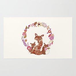 FOX & FLOWERS Rug