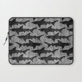 Gray and Black Shark Pattern Laptop Sleeve