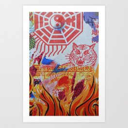 Burnin' Paper 3 Art Print