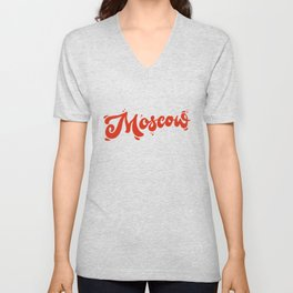 Moscow Lettering | Russia Unisex V-Neck
