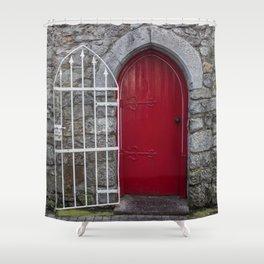 Red Door Galway, Ireland Shower Curtain