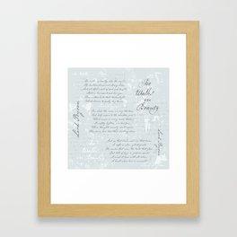 She Walks in Beauty - Lord Byron - poetry Framed Art Print