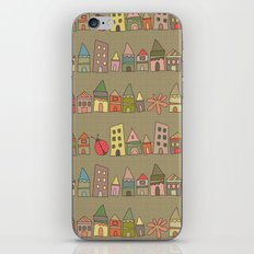 City {Housylands - brown} iPhone & iPod Skin