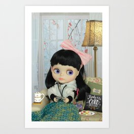 Winter, cold and windy day Art Print