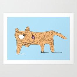 Perro Cojo / Lame Dog - blue and orange Art Print