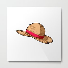 Luffy Straw Hat Metal Print