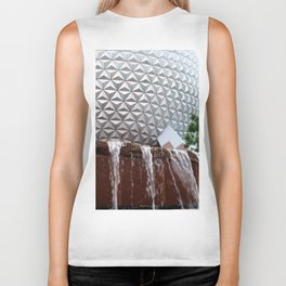 Spaceship Earth Fountain Biker Tank