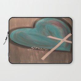 Grace Heart Cross Laptop Sleeve