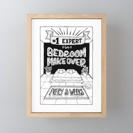 Bedroom Makeover Award Framed Mini Art Print