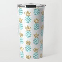 Elegant faux gold pineapple pattern Travel Mug