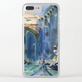 "John Singer Sargent ""The Bridge of Sighs, Venice"" Clear iPhone Case"