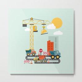 Kids Construction Site Metal Print