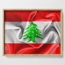 Lebanon Flag Serving Tray