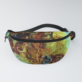 Colorful Wood Spirals Background #Abstract #Nature Fanny Pack