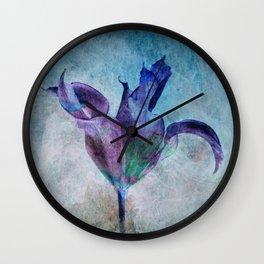 A Misterious Flower Wall Clock