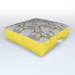 MAYA - Grey & Yellow Outdoor Floor Cushion