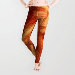Neon Carrot Ribbon Leggings