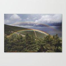 Two rainbows Canvas Print