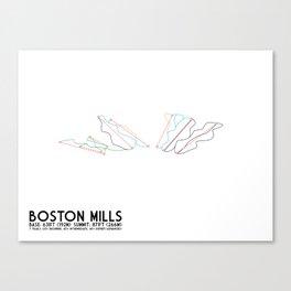 Boston Mills, OH - Minimalist Trail Art Canvas Print