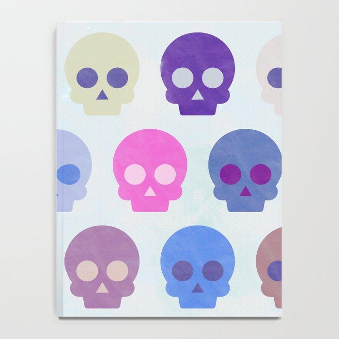 Colorful Skull Cute Pattern III Notebook