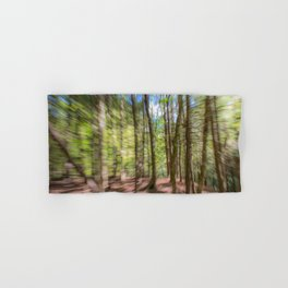Forest Motion Blur Hand & Bath Towel