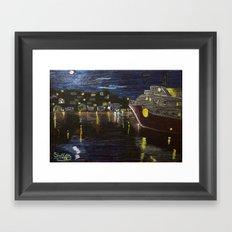 Moonlit Carenage Framed Art Print