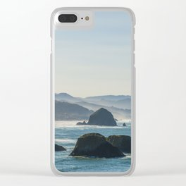 Haystack Rock from Crescent Point Clear iPhone Case