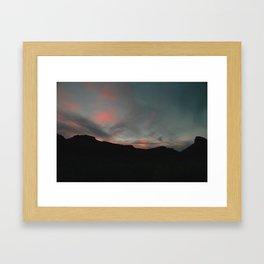 Big Bend Sunset Framed Art Print