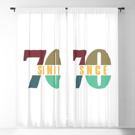 TOGETHER SINCE 1970 COUPLES Blackout Curtain