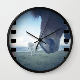 Three horses Wall Clock