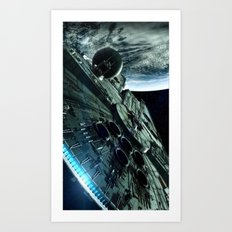 Milleniuim Falcon Art Print