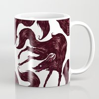 the hound Mugs featuring Happy Hound  by exeivier