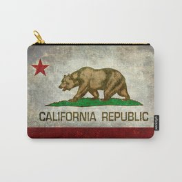 Californian flag the Bear flag in retro grunge Carry-All Pouch