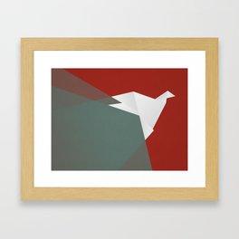 Paper Dove Framed Art Print