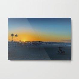 Sunrise Seagull at Tower 20 Metal Print