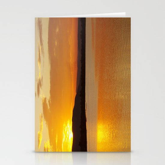 Sunset In The Village Stationery Cards