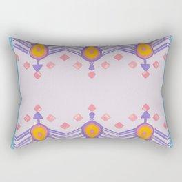 Painted Indian Tribal Pattern Dusky Pink Rectangular Pillow