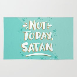 Not Today, Satan – Mint & Gold Palette Rug
