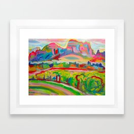 SEDONA HILLS II Framed Art Print