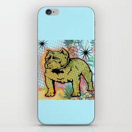 Cool dog pop art iPhone Skin
