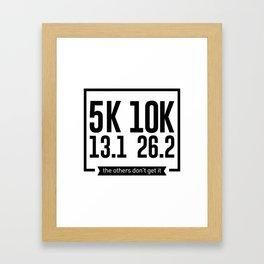 5K 10K 13.1 26.2 Runners Running Marathon Race Framed Art Print