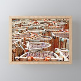 Traditional Lobster Traps Framed Mini Art Print