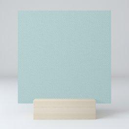 Blue Seigaiha Pattern Mini Art Print