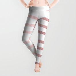 Simply Drawn Stripes Rose Quartz Elegance Leggings