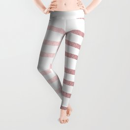 Simply Drawn Stripes Rose Quartz Elegance Leggings