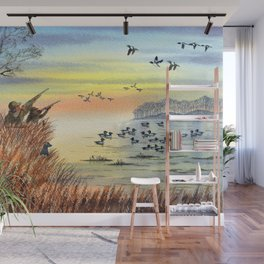 Duck Hunting With Dad For Goldeneye Wall Mural